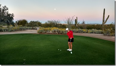 Maddie chipping by moonlight FOunders Cup qualifier