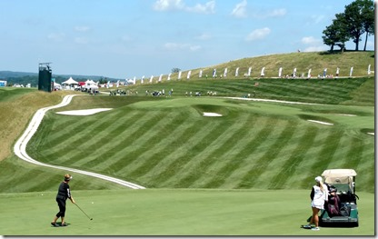 Cindy Figg Currier 2nd shot 18th hole French Lick